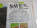 15 Coupons $.50/3 Nature Valley Granola Bars Biscuits Cups  1/4/2019