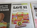 15 Coupons $1/2 Borden Cheese DND 12/8/2019