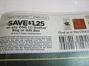 15 Coupons $1.25/1 Godiva Bag or Gift Box 1/31/2020