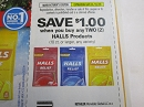 15 Coupons $1/2 Halls 10ct + 1/25/2020