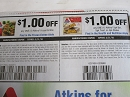 15 Coupons $1/1 Atkins Frozen Entrée + $1/1 Atkins Bar or Treat 5pk or Shake 4pk 3/31/2020