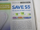 15 Coupons $5/2 Tena Products 1/19/2020