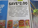 15 Coupons $2/4 General Mills Cereal Lucky Charms Cinnamon Toast Crunch 3/7/2020