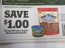 15 Coupons $1/2 Blue Diamond Almonds Cans or Bags 3/29/2020