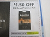 15 Coupons $1.50/1 Duracell Optimum Pack 6/13/2020