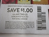 15 Coupons $1/2 Sargento Sliced Natural Cheese 7/19/2020