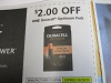 15 Coupons $2/1 Duracell Optimum Pack 8/29/2020
