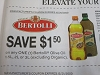 15 Coupons $1.50/1 Bertolli Olive Oil 1.5L, 2L or 3L 12/31/2020 DND
