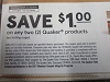15 Coupons $1/2 Quaker Products 12/13/2020