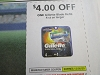 15 Coupons $4/1 Gillette Blade Refill 4ct 12/5/2020