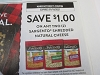 15 Coupons $1/2 Sargento Shredded Natural Cheese 1/10/2021