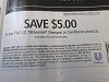 15 Coupons $5/2 Tresemme Shampoo or Conditioner 12/19/2020
