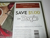 15 Coupons $1/1 People Magazine 1/4/2021