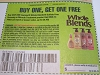 15 Coupons Buy 1 Get 1 FREE Garnier Whole Blends Sulfate Free Remedy or Miracle Treatment 3/27/2021