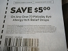 15 Coupons $5/1 Pataday Eye Allergy Itch Relief Drops 5/8/2021