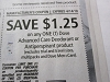15 Coupons $1.25/1 Dove Advanced Care Deodorant or Antiperspirant 4/14/2018