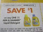 15 Coupons $1/1 Arm & Hammer Liquid Detergent 6/2/2018