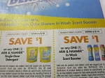 15 Coupons $1/1 Arm & Hammer Single Dose Detergent + 15 $1/1 Arm & Hammer In Store Scent Booster 6/2/2018