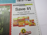15 Coupons $1/2 Borden Cheese 6/17/2018 DND