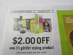 15 Coupons $2/1 Got2b Styling 6/10/2018