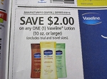15 Coupons $2/1 Vaseline Lotion 10oz+ 6/9/2018
