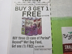 15 Coupons Buy 3 Get 1 FREE Purina Beyond Wet Dog Food 8/20/2018