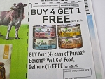 15 Coupons Buy 4 Get 1 FREE Purina Beyond Wet Cat Food 8/20/2018