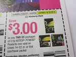 15 Coupons $3/2 U by Kotex Fitness 6/16/2018
