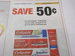 15 Coupons $.50/1 Colgate 3.0oz Toothpaste 6/2/2018