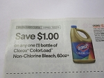 15 Coupons $1/1 Clorox ColorLoad 60oz 7/3/2018