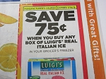 15 Coupons $.75/1 Luigi's Real Italian Ice 7/19/2018