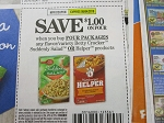 15 Coupons $1/4 Betty Crocker Suddenly Salad or Helper 8/4/2018