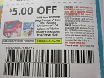 15 Coupons $5/2 box or bags Pampers Easy Up Training Underwear or Splashers 7/14/2018