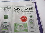 15 Coupons $2/1 Simple Product 7/22/2018