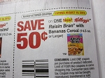 15 Coupons $.50/1 Kellogg's Raisin Bran with Bananas Cereal 8/19/2018