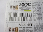 15 Coupons $6/2 Clairol Hair Color + 15 $2/1 Clairol Hair Color 7/21/2018