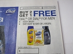 15 Coupons Buy 2 Get 1 FREE Dial or Dial for Men Body Wash or Bar Soap 6 Bar 7/29/2018