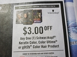 15 Coupons $3/1 Schwarzkopf Keratin Color, Color Ultime or Got2b Hair Color 7/29/2018