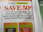 15 Coupons $.50/1 bag Nature Valley Peanut Butter Granola or Honey Almond Butter Granola 9/1/2018