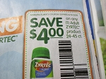 15 Coupons $4/1 Zyrtec 24-45ct 8/19/2018