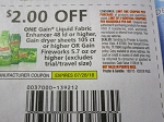 15 Coupons $2/1 Gain Liquid Fabric Enhancer 48ld+ Sheets 105ct or Fireworks 5.7oz+ 7/28/2018