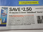 15 Coupons $2.50/1 Clorox Toilet Wand Starter Kit 9/15/2018