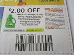 15 Coupons $2/1 Gain Powder or Liquid Laundry Detergent 9/1/2018