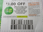 15 Coupons $3/1 Gain Flings 26ct+ 9/1/2018