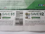 15 Coupons $1/1 Nature's Bounty Vitamin or Supplement + 15 $2/1 Nature's Bounty NEW Vitamin or Supplement 9/30/2018