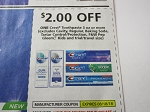 15 Coupons $2/1 Crest Toothpaste 3oz+ 8/18/2018