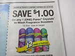 15 Coupons $1/1 Purex Crystals In Wash Fragrance Boosters 15.5oz 8/19/2018