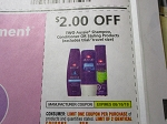 15 Coupons $2/2 Aussie Shampoo Conditioner or Styling 8/18/2018