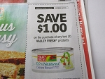 15 Coupons $1/2 Valley Fresh Product 10/1/2018