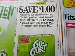 15 Coupons $1/1 Yoplait Go Gurt 16ct , Kids Cups 8ct or Trix Yogurt 8ct 9/29/2018